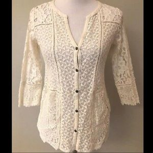 Lucky Brand Lace Shirt